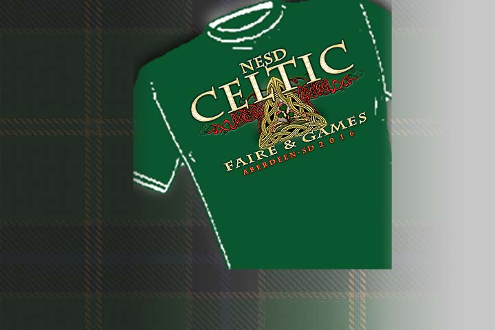 >Northeastern South Dakota Celtic Faire &amp; Games - Official Merchandise<   Select colors and styles available in your choice of Celtic T-shirts | Celtic Hoodies | Celtic Crew Necks.